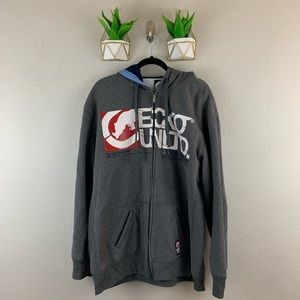 Ecko Unltd Mens Zip Up Hooded Jacket Size XXL Gray